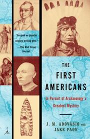 Cover of: The First Americans: In Pursuit of Archaeology's Greatest Mystery (Modern Library Paperbacks)