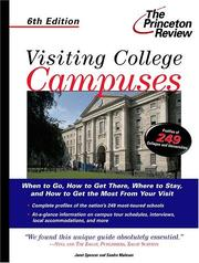 Cover of: Visiting College Campuses, 6th Edition (Princeton Review Series)