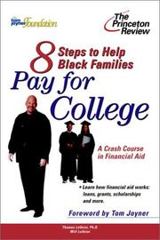 Cover of: Eight Steps to Help Black Families Pay for College