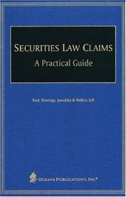 Cover of: Securities Law Claims