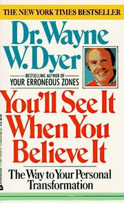 Cover of: You'll See It When You Believe It:  The Way to Your Personal Transformation