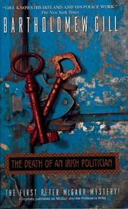 Cover of: The Death of an Irish Politician (Peter McGarr Mysteries)