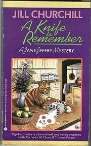 Cover of: A Knife to Remember (Jane Jeffry Mystery Series #5)