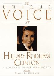 Cover of: Unique Voice Hillary Cli