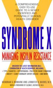 Cover of: Syndrome X