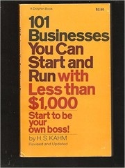Cover of: 101 Businesses You Can Start and Run with Less than $1000