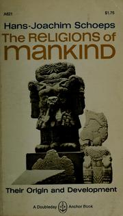 Cover of: The religions of mankind (A Doubleday Anchor book)