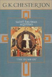 Cover of: Saint Thomas Aquinas: The Dumb Ox