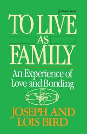 Cover of: To Live as Family