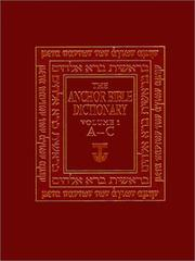 Cover of: The Anchor Bible Dictionary, Volume 1 (Anchor Bible Dictionary)