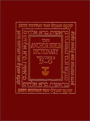 Cover of: The Anchor Bible Dictionary, Volume 2 (Anchor Bible Dictionary)