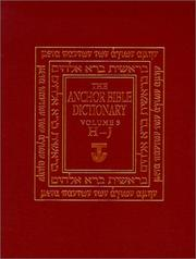 Cover of: The Anchor Bible Dictionary, Volume 3 (Anchor Bible Dictionary)