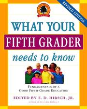 Cover of: What Your Fifth Grader Needs to Know, Revised Edition