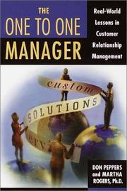 Cover of: The One to One Manager
