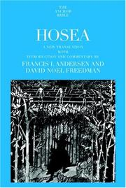 Cover of: Hosea (Anchor Bible)