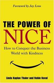 Cover of: The Power of Nice