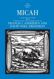Cover of: Micah (Anchor Bible)