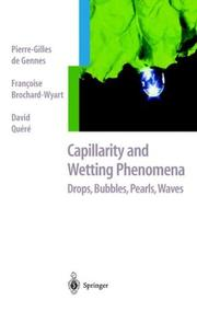 Cover of: Capillarity and Wetting Phenomena