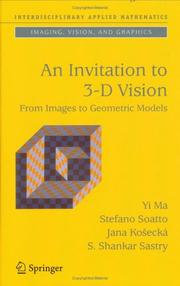 Cover of: An Invitation to 3-D Vision