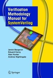Cover of: Verification Methodology Manual for SystemVerilog