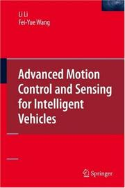 Cover of: Advanced Motion Control and Sensing for Intelligent Vehicles