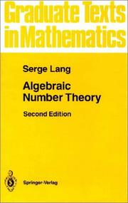 Cover of: Algebraic Number Theory (Graduate Texts in Mathematics)