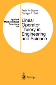 Cover of: Linear Operator Theory in Engineering and Science (Applied Mathematical Sciences)