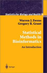 Cover of: Statistical Methods in Bioinformatics