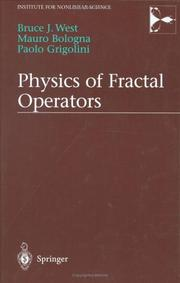 Cover of: Physics of Fractal Operators