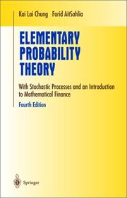 Cover of: Elementary Probability Theory