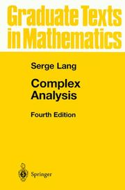 Cover of: Complex Analysis (Graduate Texts in Mathematics)