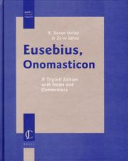 Cover of: Eusebius, Onomasticon