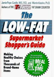 Cover of: The Low-Fat Supermarket Shopper's Guide