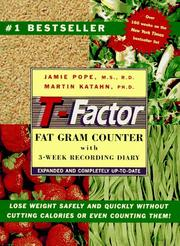 Cover of: The T-Factor Fat Gram Counter
