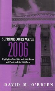 Cover of: Supreme Court Watch 2006 (Supreme Court Watch)
