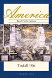 Cover of: America, Brief Fifth Edition, Volume Two