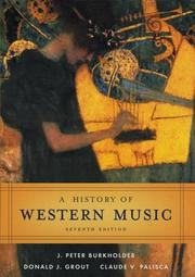 Cover of: A History of Western Music