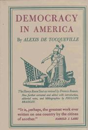 Cover of: Democracy in America (2 Volumes)