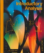 Cover of: Introductory Analysis/Grade 12 (2-12700)