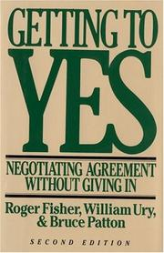 Cover of: Getting to Yes