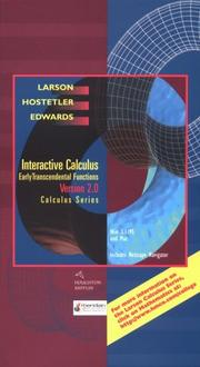 Cover of: Interactive Calculus Version 2.0: Early Transcendental Functions