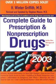 Cover of: Complete Guide to Prescription and Nonprescription Drugs 2003 (Complete Guide to Presciption and Nonprescription Drugs, 2003)