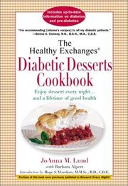 Cover of: The Healthy Exchanges Diabetic Desserts Cookbook