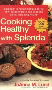 Cover of: Cooking Healthy with Splenda (R)