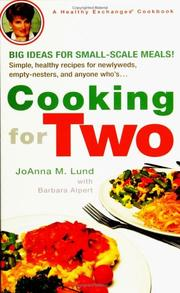 Cover of: Cooking for Two (Healthy Exchanges Cookbook)