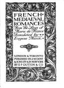 Cover of: French Mediaeval Romances from the Lays of Marie De France