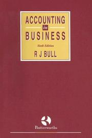 Cover of: Accounting in Business