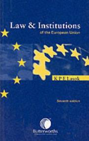 Cover of: Law and Institutions of the European Union