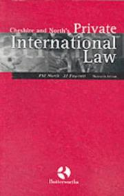Cover of: Cheshire and North's Private International Law