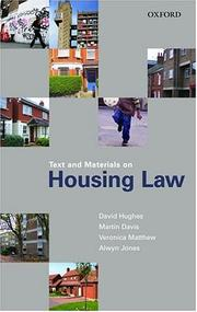 Cover of: Text and Materials on Housing Law